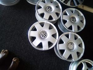14 inch Vw Polo rims 5x100 pcd for only R2500.