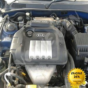 KIA 2.0 16V ENGINE G4JP USED