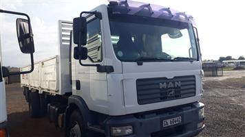 Man 15-240 with drop side body,8 ton,recon motor