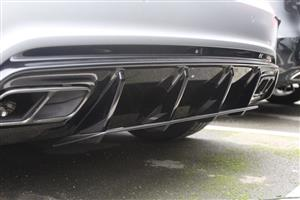 Merc A45 AMG Style Rear Diffuser- Gloss Black (For All W176 Models)