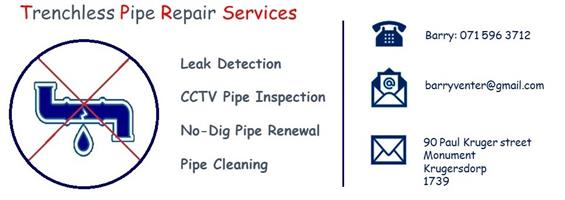 Trenchless Pipe Repair - The 'No dig' sewer pipe repair & refurbishment service