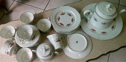 Original five roses Huguenot Royale teaset for sale  Boksburg