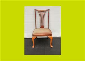 Victorian Inlaid Mahogany Bedroom Chair - SKU 689