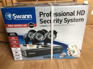 SWANN CCTV KIT 8 CHANNELS 4 CAMERAS