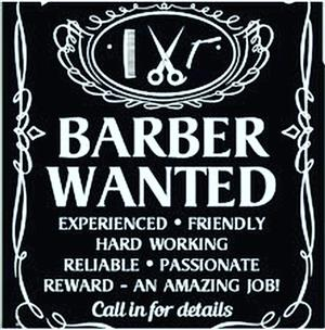 Professional Barber Required
