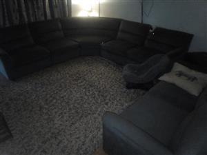 Black corner lounge suite