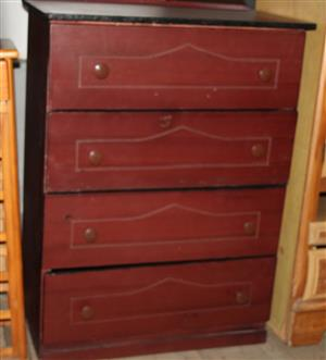 Brown wooden chest of drawers S031457B  #Rosettenvillepawnshop