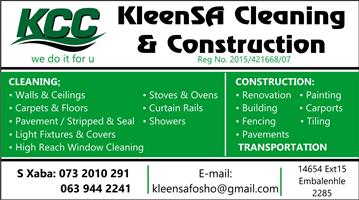 KleenSA Cleaning & Construction