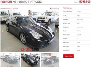 2001 Porsche 911T
