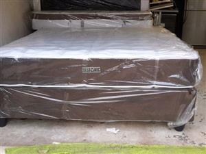 New Restonic King Size Foam Mattress and Base Set
