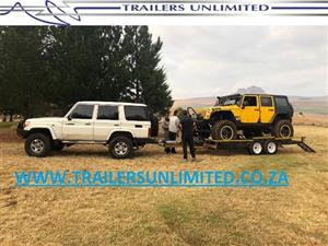 DOUBLE AXLE CAR TRAILER