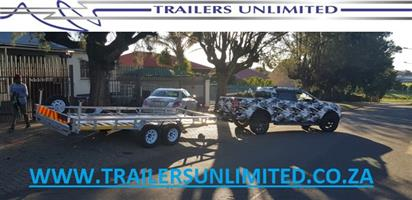 DOUBLE AXLE CAR TRAILER. 5200 X 2000 X 200MM UNIT. WE CUSTOM BUILD TO YOUR NEEDS.