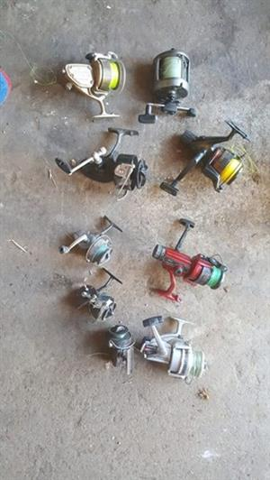 Various fishing reels for sale