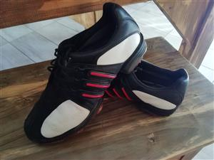 Adidas golf shoes. Adidas running spikes, Grayphon hockey shoes, Nicklaus golf bag