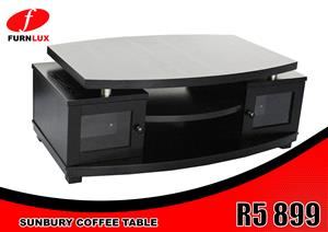 BRAND NEW COFFEE TABLE !!!!! SUNBURY COFFEE TABLE FOR ONLY R5 899