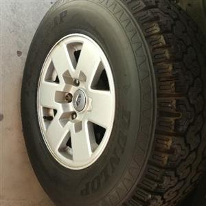 ford rangers wheels and tyres