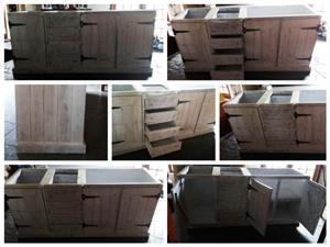 Kitchen Cupboard Base unit Farmhouse series 2100 Chalk paint distressed