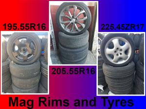 Mags Rims and Tyres for sale.