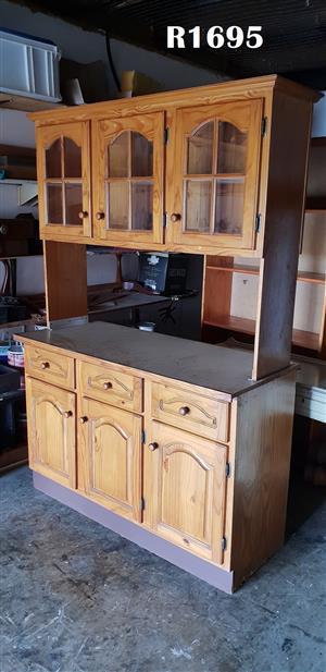 Classic Pine Kitchen Cupboard (1375x575x2010)