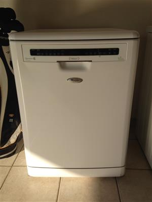 WHIRLPOOL ADP 7955WH TOUCH 6TH SENSE DISHWASHER WHITE