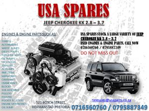 JEEP CHEROKEE KK 2.8 3.7 ENGINES AND ENGINE PARTS FOR SALE- USA SPARES