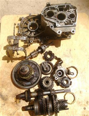 Golf3 VR6 5 Speed transmission stripped gearbox.