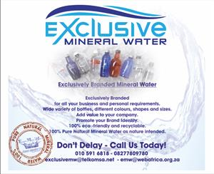 Exclusive Branded Mineral Water