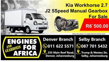 Kia Workhorse 2.7D J2 5Speed Manual Gearbox Used For Sale
