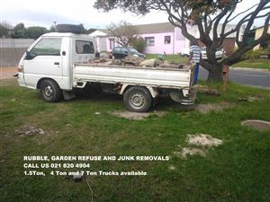 Garden waste removal,Rubble removal