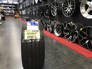 17 inch tyres tire 215-40-17 Sportmax brand new
