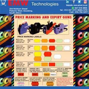 Price marking and expiry date machines