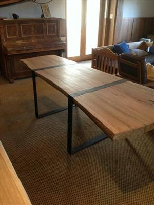Solid hand made wooden table
