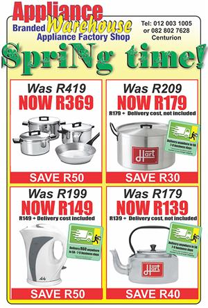 It is SPRING TIME again! We have all the appliances you look for!
