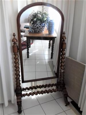 Cheval mirror-Antique