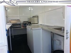 TRAILERS UNLIMITED MOBILE KITCHENS 4000 X 2000 X 2000MM UNIT.