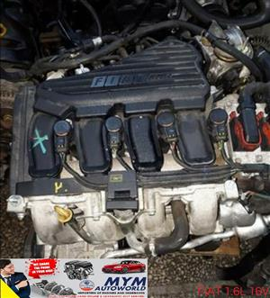 Complete Second hand used engines,  FIAT 1.6L 16V 182B6000  SINGLE COILS,