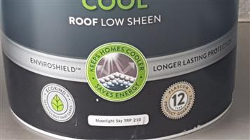 Plascon Nuroof Cool - Roof Low Sheen Colour:Moonlight Sky TRP 210 (20 litres X 3) for sale