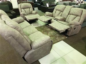 Grafton Everest 100% Suede Fabric lounge suite WAS R 32495 NOW R 23995