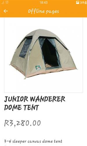 canvas junior dome tent brandnew