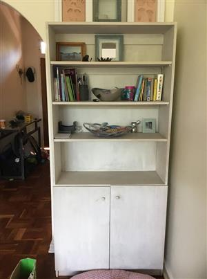 White wooden shelf cabinet for sale