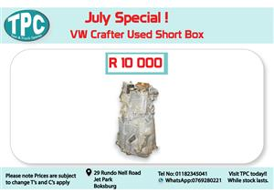 VW Crafter Used Short Box for Sale at TPC