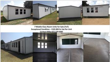 7x Mobile Classrooms for sale