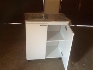 Wooden single kitchen sink unit 915x460