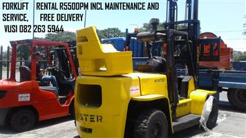 Forklift Hire R5500pm Free Delivery