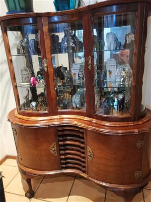 Antique Imbuia Radio Display Case