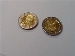 2 x 2018 R5 MANDELA COINS. - R8000 EACH