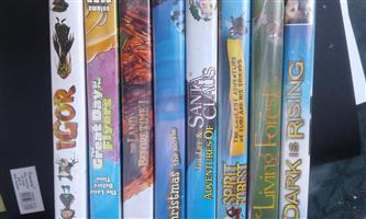 Set of 8 children dvds for sale