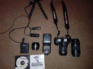 Canon 700 D With lenses and bag