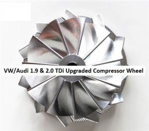 GT1749V - VW & Audi 1.9 & 2.0 TDi Upgraded Billet Compressor Wheel - Add horsepower and torque