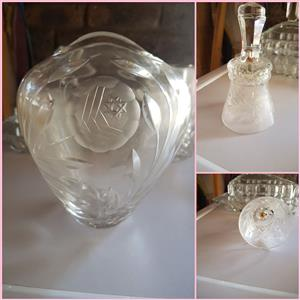 Stunning antique crystal items